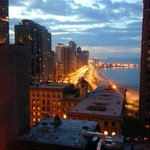 evening view from room north up lake shore drive