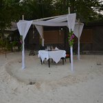 Optional extra for dining - romantic beach dinner