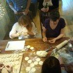 Guests preparing dumplings ;)
