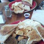 Fabulous eggs!  Wonderful rye toast too