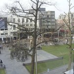 View of Rembrandt Square from our room