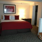 King size bed in loft bedroom