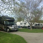 Our RV in the full hook up session.