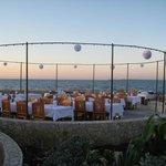 Blue Mahoe Restaurant outdoor area - wedding setup