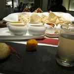 Amaranta's amuse bouche and well-stocked bread basket