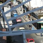 vista desde la terraza hacia la calle