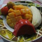 entrada de frutas