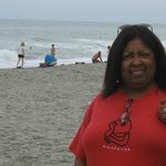 This is the beach just a walk across the street from the aqua. My wife is in the very spot we se