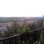 Uitzicht op het stadje