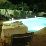 First Night Dinner By The Pool