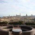 Vista della città dalla terrazza