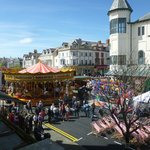 View from window during the annual Llandudno Victorian Extravaganza