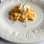 seriously delicious scrambled egg with smoked salmon for breakfast