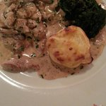 Veal and Wild Mushroom Main Course..
