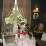 petit salon détente où on nous a servi café, thé, petits gateaux à notre arrivée! ;)
