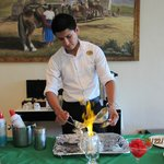 Omar preparing Mayan Coffee