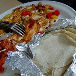 chicken with stack of tortillas