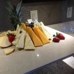 Assorted cheese hors d'oeuvres in Club Lounge