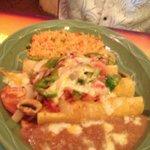 Shrimp enchiladas.