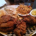 fried chicken with limpin Susan and Yukon mash and gravy