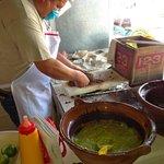 preparing carne asada