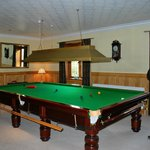 The billiard table for guests.