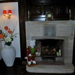 Another fireplace in the lounge.