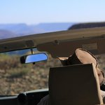 Game drive atop the plateau