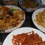 edamame/K-della/sweet potato fries/truffle fries