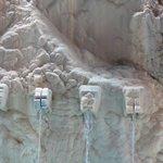 Sculptures spurting water