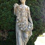 one of many statues of interest in Kilruddery garden.