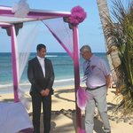 Wedding ceremonie on beach