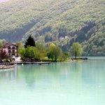 Milky green lake Barcis