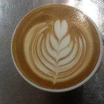 brilliant latte art, by brownz courtyard cafe.