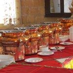 Sumptous buffet spread
