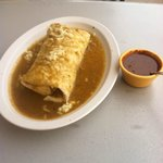 Chile Relleno Burrito, smothered, please.