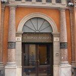 Front Door of Albergo Santa Chiara, Rome