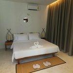 Green villa bedroom