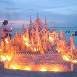 Giant Sandcastle on Treasure Cay Beach