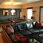 Pool Table and Family room in suite