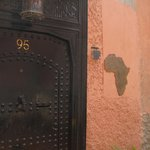 Front door to the Riad
