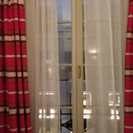 room window - windows open