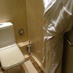 bathroom - clean - but door opens into toilet