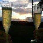 champagn sunset