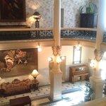 The atrium of the Menger Hotel.