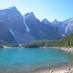 Moraine Lake near Lake Louise