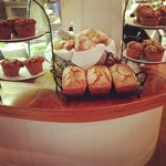 Fresh baked every morning in the cafe