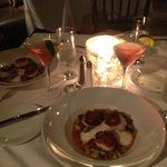 Scallops and southern grits! Awesome :)