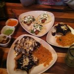 Fish Tacos and Mole Chicken dinner plates