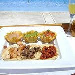 Poolside taco lunch